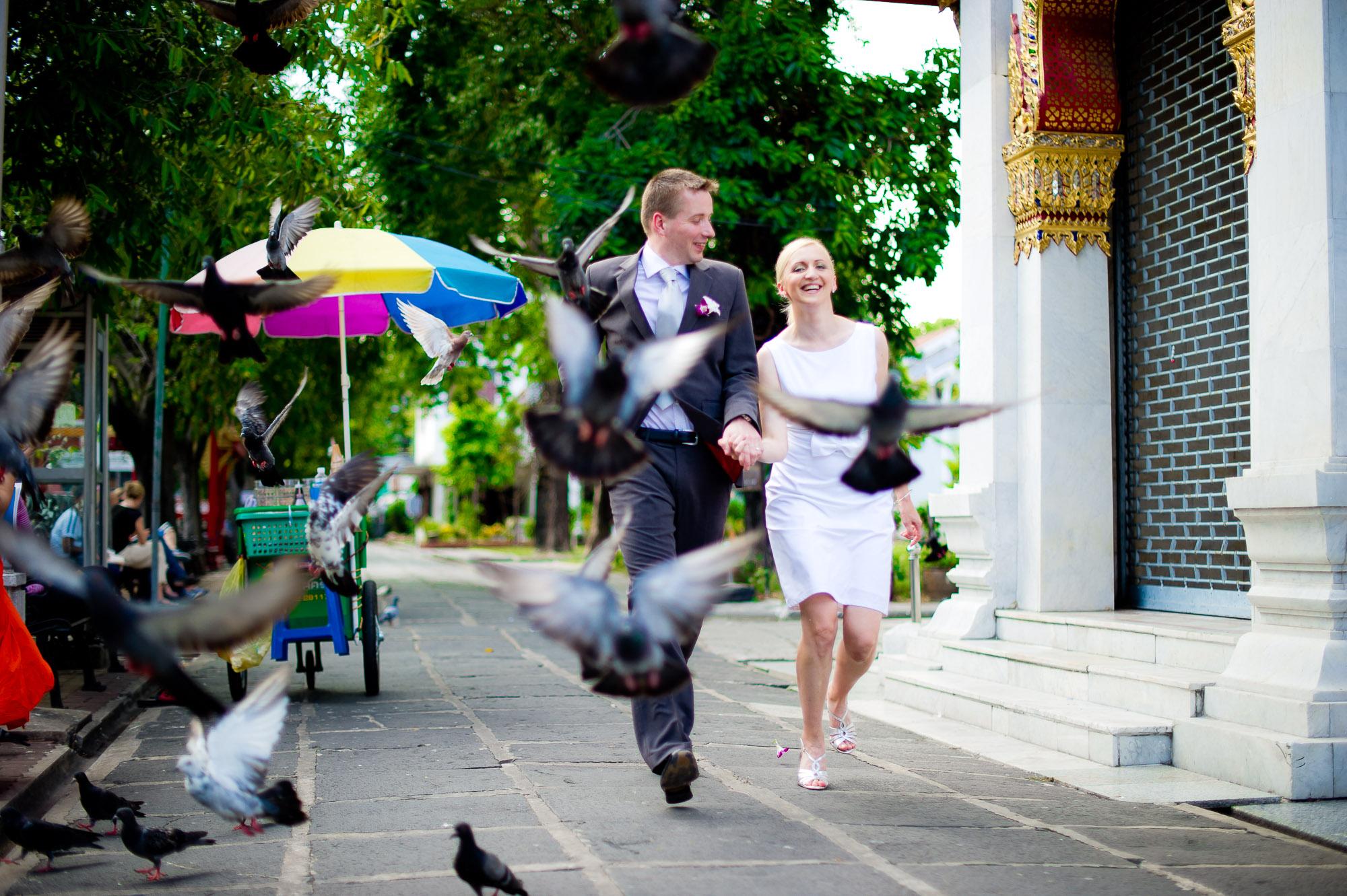 Bangkok Wedding Photography | Marble Temple Pre-Wedding Photography