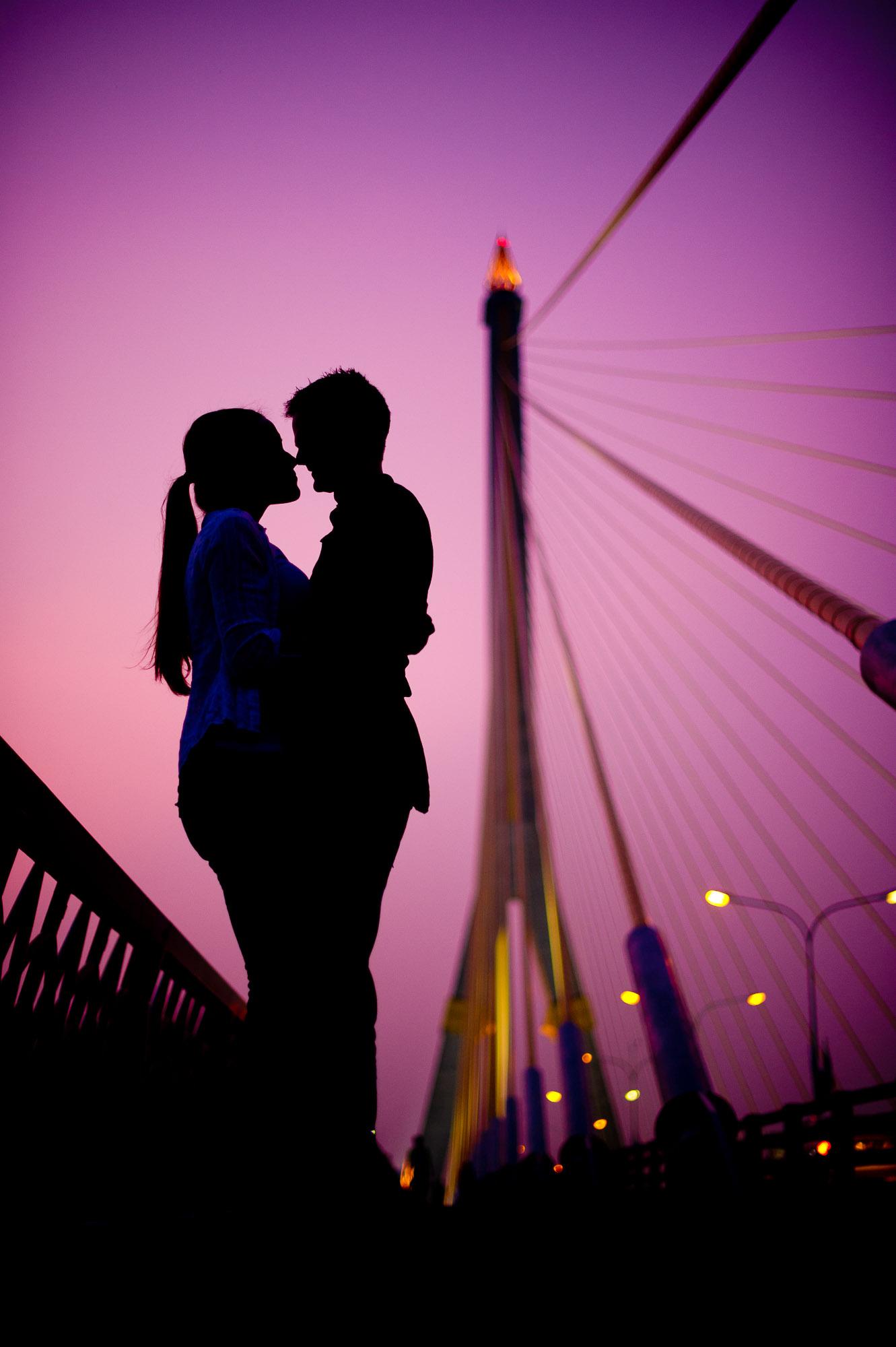 Bangkok Wedding Photography | Rama VIII Bridge Pre-Wedding Photography