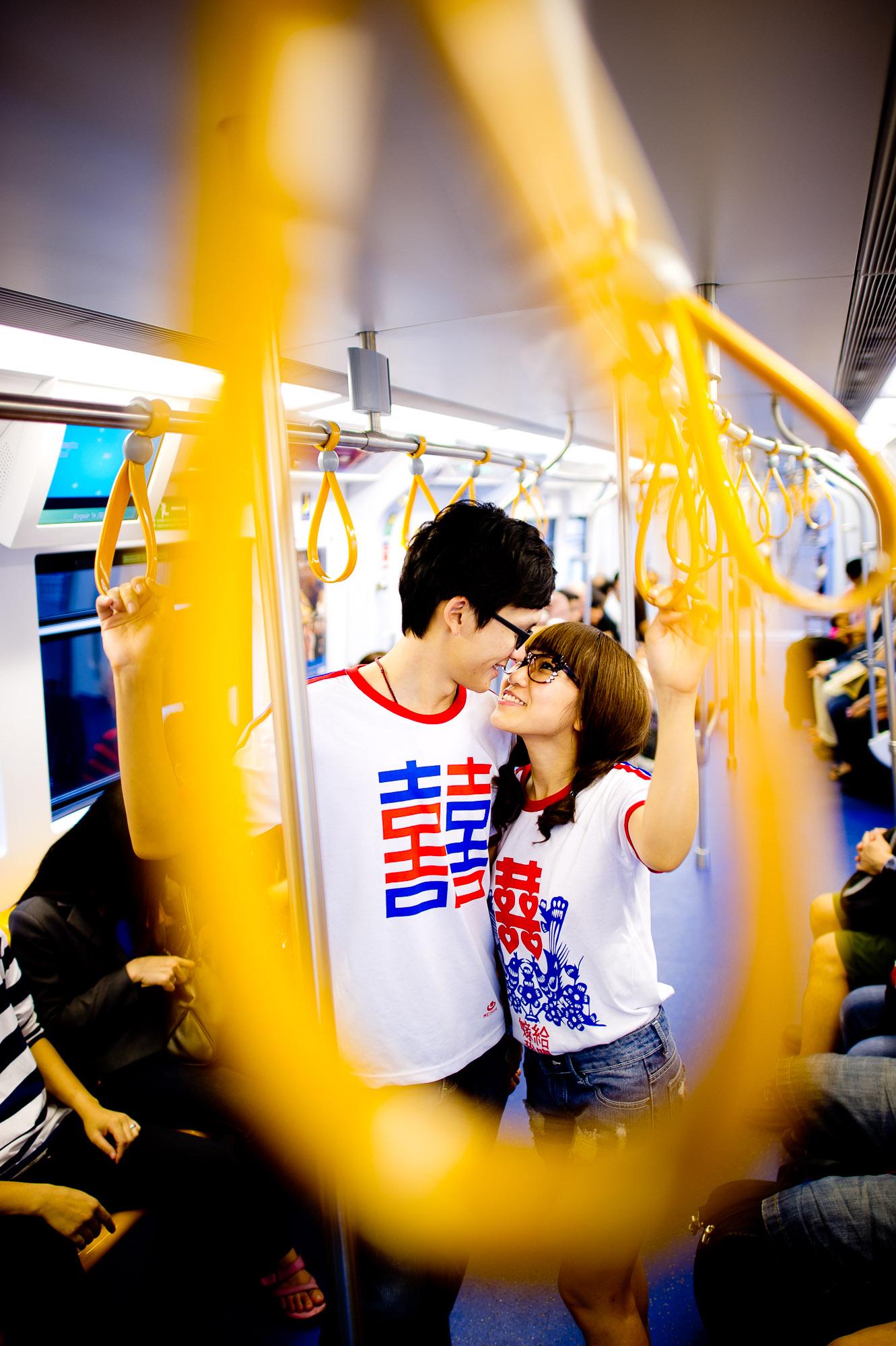 Bangkok Wedding Photography | BTS Sky Train Pre-Wedding Photography