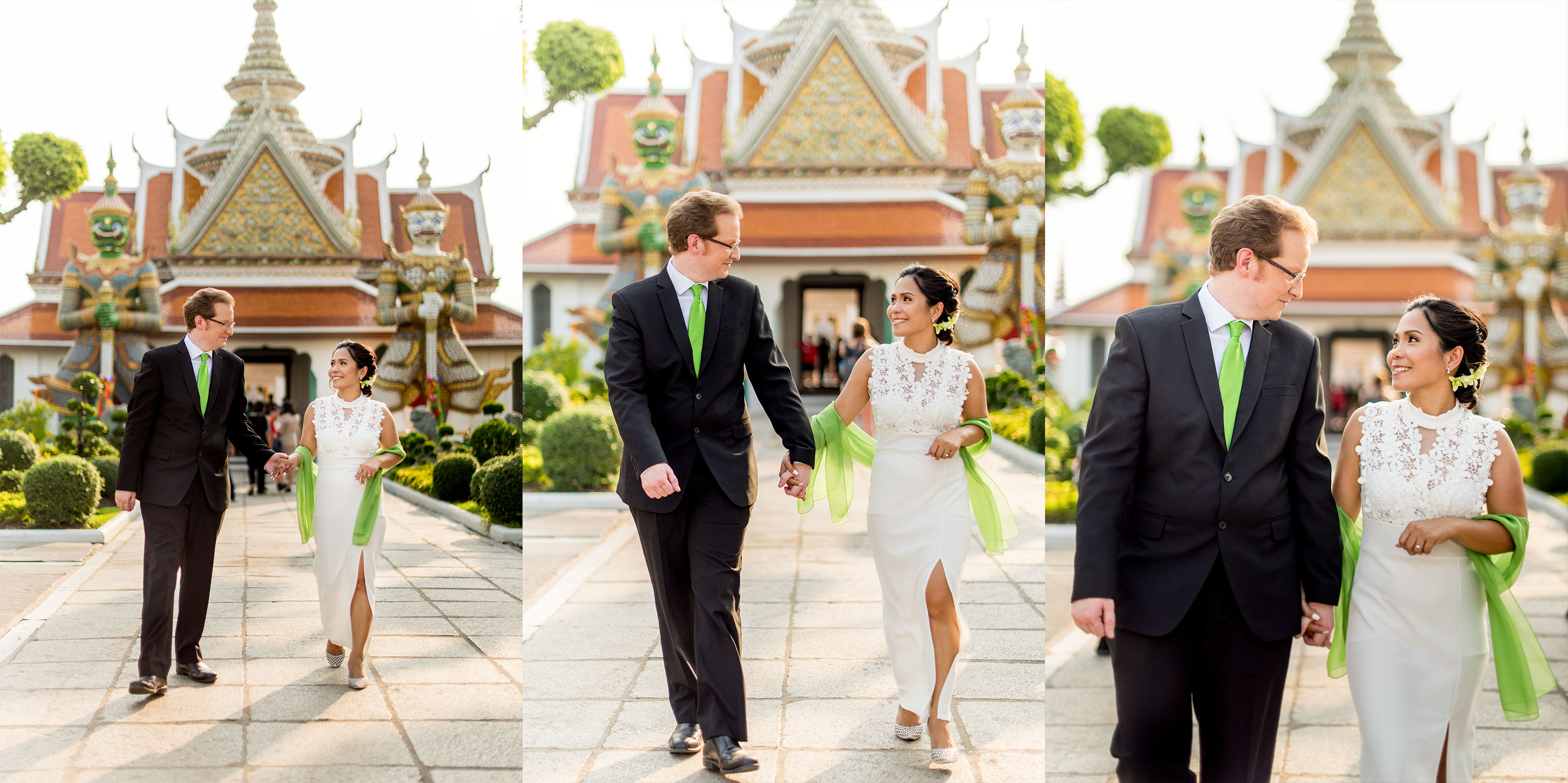 Wat Arun (Thai Temple) Wedding Photography