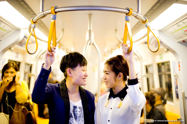 Thailand BTS Skytrain Engagement Session
